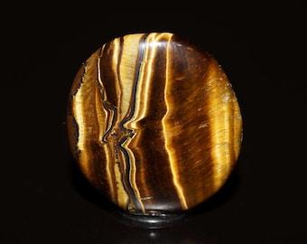 Tigers Eye Cabochon - Brown High Quality Polished Gemstone - DLML1