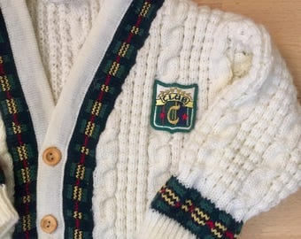 Vintage  Baby Cable Knit Cardigan