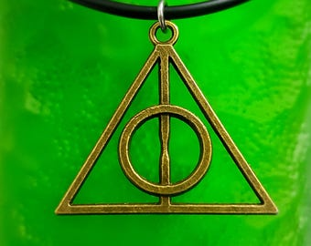 Handmade Deathly Hallows Harry Potter Necklace