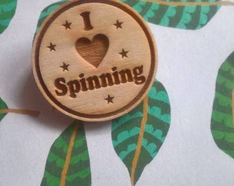 Craft Badge - Love Spinning Badge - Spinning Badge - Spinning - Badge - Gift for Spinner - Ready to Ship