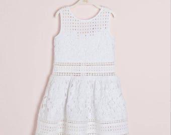 Guipure lace dress