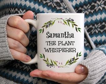 Gift for Gardener- Personalized, The Plant Whisperer Mug, Gardening Gift, Gardener Gift