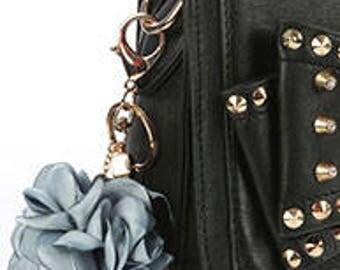 Nylon Floral Key Chain