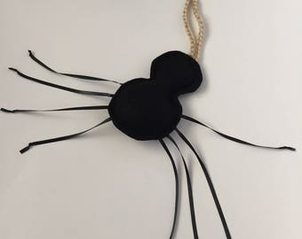 Spider Cat Teaser Toy - Bug Cat Toy - Felt Cat Toy - Interactive Cat Toy - Halloween Cat Toy - Cat Birthday Gift - Gift for Cat Lover