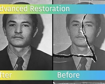 Advanced Photo Restoration - Photo Manipulation - Damaged Photo Repair - Photo Editing
