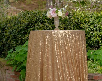 Gold  Sequin Tablecloth | Gold Table Linen | Gold Sequin Table Linen | Glitter Tablecloth | Gold Sequin Table Runner | Gold Wedding Decor