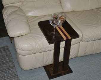 Sofa Side Table -  Laptop Table - Snack Table -  Solid Wood