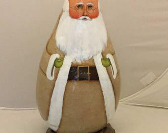 Brown Woodland Gourd Santa