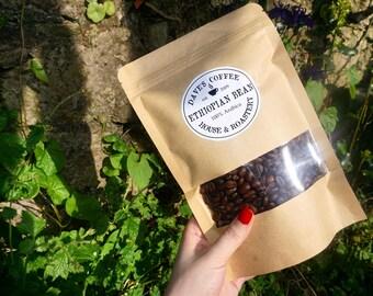 Ethiopian Coffee Bean, Artisan Coffee, Freshly Roasted Coffee Bean, Single Origin Ethiopian Bean, Hand Roasted, Whole Bean, Espresso Ground