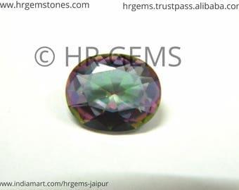 Mystic Quartz loose gemstone, 10 20 30 pcs lot, oval, gemstone, oval mystic quartz