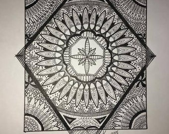 Black and white pen drawing