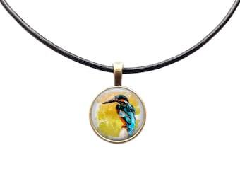 Bird chain Animal pendant Watercolor necklace