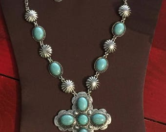 Beautiful Turquoise Cross Necklace