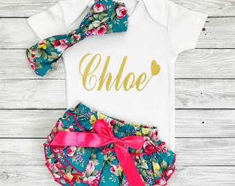 Personalized Newborn Outfit, Baby Girl Outfits, Baby Girl Take Home Outfit, Newborn Hospital Outfit, Newborn Girl Gift,Take Home Outfit Girl