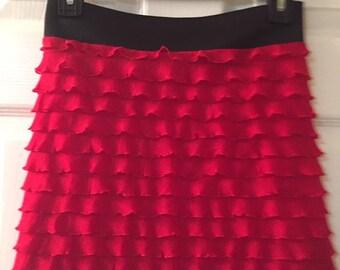 Bathing suit cover up skirt  (ruffle skirt)