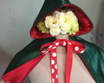 Childrens elf hooded cape