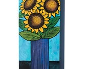Sunflower Painting - Orig...