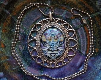 Radiant Avatar - Heart Mandala Cabochon Necklace by Ishka Lha