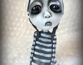 Loopy Gothic Art Doll Lowbrow Dark Goth Bunny