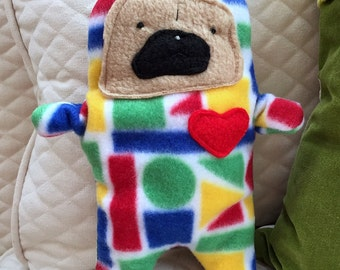 Stevie ~ The Pug-Jama Party Bummlie ~ Stuffing Free Dog Toy - Ready To Ship Today