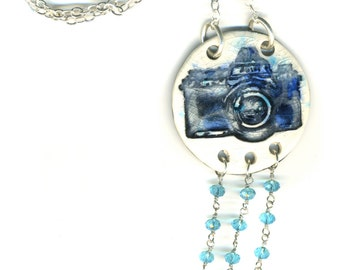 Boho Longline Ceramic Camera Necklace