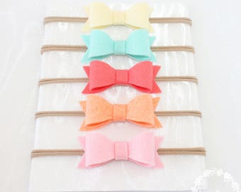 Baby Headband. Baby Bows. Bow and Headbands. Bows. Hair Bow. Infant Headband. Headband, Nylon Headband, Baby Girl. Set. Bow. Baby. Newborn