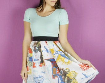 M/L Star Wars Skirt , Vintage Star wars Skirt, Empire Strikes Back Sheet, vintage star wars clothing, handmade skirt, upcycle