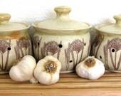 Garlic Keeper - Garlic Pot - Garlic Jar -   Hand Thrown Stoneware Pottery - Ready to Ship