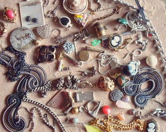 Jewelry Bits & Pieces Found Objects Supplies for Jewelry, Assemblage, Altered Art ,