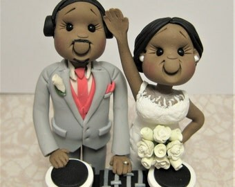 DEPOSIT for a Customized DJ disc jockey music theme Wedding Cake Topper