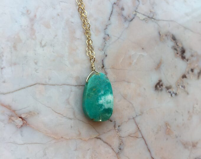 Turquoise and Gold Filled Littles Necklace