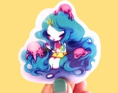 Ice Cream Octopus Queen - Sticker