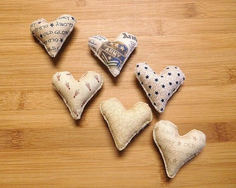 Primitive Patriotic Hearts Military Bowl Fillers Independence Day Ornaments