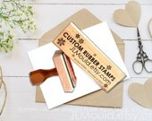 JLMould Custom Personalized Wooden Block Red Rubber Stamp with or without Handle Logo Business Wedding Your Art or We can Help with Art