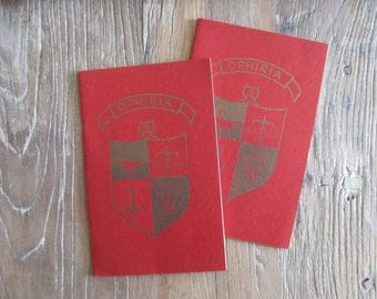"2 1960 Manhattanville College Ophiria Commencement Booklets ""Seranades"" by Class of 1962"