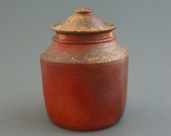 Covered Jar, wood-fired stoneware w/celadon and natural ash glazes