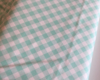 Gingham Fabric, Gingham Dress 50's fabric, Gingham Dress, Girls Gingham Dress fabric, Bonnie and Camille, Gingham in Aqua, Choose your cut
