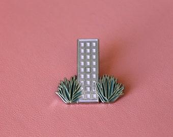Pink Door Enamel Pin - Palm Springs Pink Door Pin