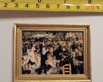 Renoir framed painting Dance at Le Moulin de la Galette - for 1:12 dollhouse