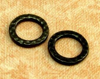 Hammertone Medium Round Link, TierraCast Black, 2-Pc. TMB13