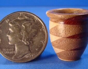 "1/2"" or 1"" Scale Dollhouse Miniature Dymondwood Vase - IGMA Fellow Helmer Lathe Turned"