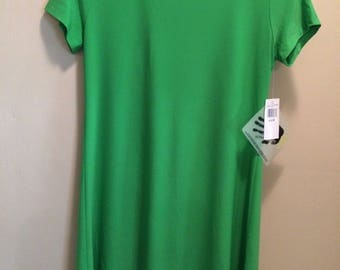Norma Kamali green light summer tee shirt dress NEW!