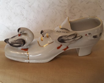 Vintage Shoe with Geese