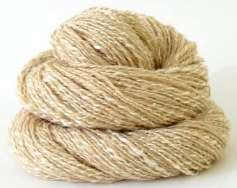 Handspun Yarn -  Home Spun Silk/Camel Yarn - Home Spun Art Yarn- 1.55oz, 184yd, 17WPI