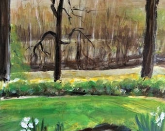 Original Painting - Wall Art - Landscape Art - Dusk - 11 x 14