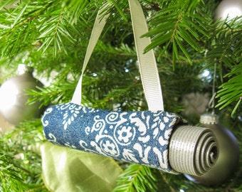 Yoga Stocking Stuffer. Boho Christmas Tree Ornament. Yoga Ornament. Christmas Ornament. Denim. Yoga Gift for Woman. Yoga Decoration.