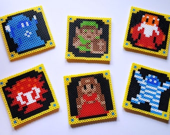 Made to Order - Nintendo 8-Bit Legend of Zelda Perler Fusion Bead Coasters