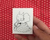 Blanket Cat Sticker