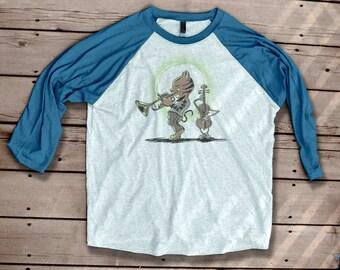 Jazz Cat and The Fiddle Baseball T Shirt graffiti street art tee tshirt workout shirt