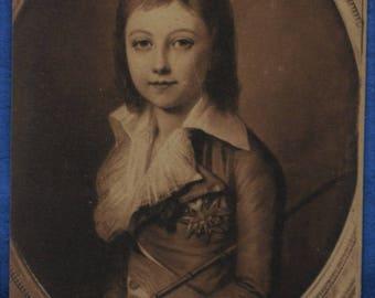 Art Kucharski Portrait of Dauphin Louis XVII Paris France Antique Postcard